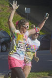 Asheville Color Run Runners Royalty Free Stock Image