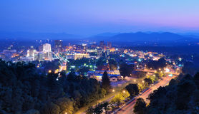Asheville Horizon royalty-vrije stock afbeeldingen