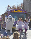 Asheville LaZoom Bus in the Christmas Parade Stock Image