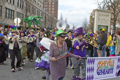 Asheville Mard Gras Parade Band Royalty Free Stock Image