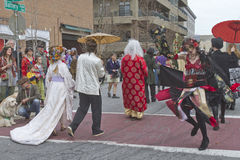 Asheville Mardi Gras Costumed Revelry Stock Photo