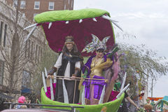 Asheville Mardi Gras ing and Queen Royalty Free Stock Photo