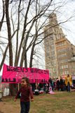 Asheville NC Women March Banner with child Royalty Free Stock Photos