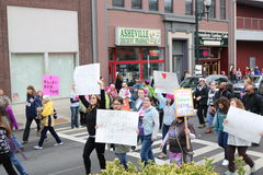 Asheville NC Women March Royalty Free Stock Images