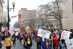 Asheville NC Women March Stock Image