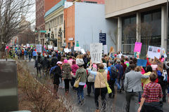 Asheville NC Women March Royalty Free Stock Image