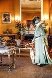 ASHEVILLE, NOORD-CAROLINA - MAART 4, 2017: De tentoonstelling van het Biltmore` s kostuum royalty-vrije stock fotografie