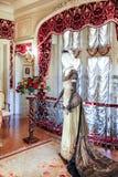 ASHEVILLE, NOORD-CAROLINA - MAART 4, 2017: De tentoonstelling van het Biltmore` s kostuum Royalty-vrije Stock Afbeelding
