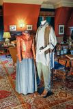 ASHEVILLE, NORTH CAROLINA - 4. MÄRZ 2017: Biltmore-` s Kostümausstellung Lizenzfreie Stockbilder
