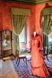 ASHEVILLE, NORTH CAROLINA - 4. MÄRZ 2017: Biltmore-` s Kostümausstellung Lizenzfreies Stockbild