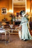 ASHEVILLE, NORTH CAROLINA - MARCH 4, 2017: Biltmore`s costume exhibition royalty free stock photography