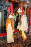 ASHEVILLE, NORTH CAROLINA - MARCH 4, 2017: Biltmore`s costume exhibition Royalty Free Stock Photos