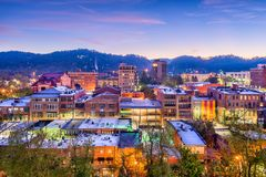 Asheville, North Carolina, USA. Downtown skyline stock image