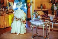 ASHEVILLE PÓLNOCNA KAROLINA, MARZEC, - 4, 2017: Biltmore ` s kostiumu wystawa obraz royalty free