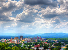 Asheville-Skyline Lizenzfreie Stockfotos