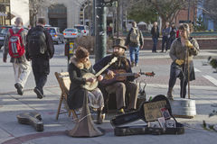 Asheville Street Music Royalty Free Stock Image