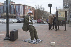 Asheville Street Performer Royalty Free Stock Images