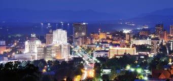 Asheville van de binnenstad Stock Foto