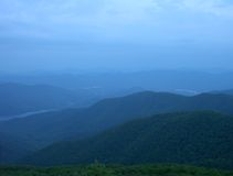 Asheville-Wasserscheide an der Dämmerung Lizenzfreies Stockbild
