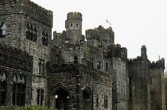 Ashford Castle, Co. Mayo - Ireland. Ashford Castle is a medieval castle that has been expanded over the centuries and turned into a five star luxury hotel near Royalty Free Stock Photo