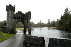 Ashford Castle, Co. Mayo - Ireland. Ashford Castle is a medieval castle that has been expanded over the centuries and turned into a five star luxury hotel near Royalty Free Stock Images