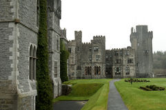 Ashford Castle, Co. Mayo - Ireland. Ashford Castle is a medieval castle that has been expanded over the centuries and turned into a five star luxury hotel near Royalty Free Stock Image