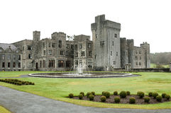 Ashford Castle, Co. Mayo - Ireland. Ashford Castle is a medieval castle that has been expanded over the centuries and turned into a five star luxury hotel near Stock Image