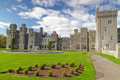 Ashford castle and gardens. 13th Century Ashford castle and gardens - Co. Mayo - Ireland Stock Image