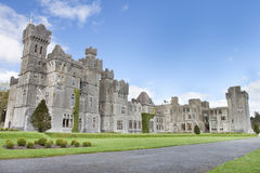 Ashford Castle hotel in Cong, Ireland. Royalty Free Stock Photos