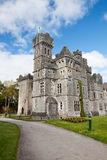 Ashford castle in Ireland. Ashford castle hotel in Ireland Royalty Free Stock Photo