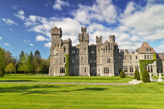 Ashford castle in Ireland. Ashford castle and gardens in Co. Mayo, Ireland Stock Image