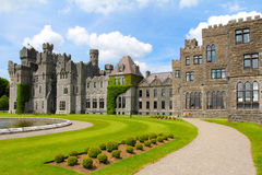 Ashford castle main structure and garden Stock Photography