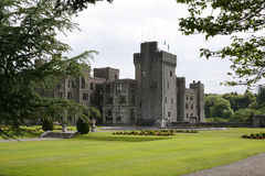 Ashford Castle view. Ashford Castle on lough Corrib Cong West of Ireland Stock Photo