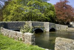 Ashford in the water peak district national park derbyshire the Royalty Free Stock Photos