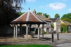 Ashford-in-the-Water village well. Royalty Free Stock Photos