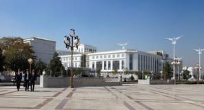Ashgabad,土库曼斯坦-双十国庆, 2014年:小组快乐的stu 库存图片