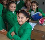 Ashgabad,土库曼斯坦- 2014年11月4日 小组学生 免版税库存图片