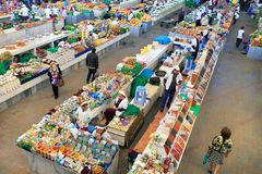 Ashgabad, Τουρκμενιστάν - 10 Οκτωβρίου 2014 Αγορά αγροτών Στοκ φωτογραφίες με δικαίωμα ελεύθερης χρήσης