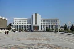 Ashgabad, Τουρκμενιστάν - 10 Οκτωβρίου, 2014: Κεντρικό τετράγωνο της τέφρας Στοκ Φωτογραφία