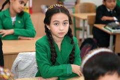 Ashgabad, Turkménistan - 4 novembre 2014 Portrait d'un unknow Photos libres de droits