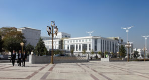 Ashgabad, Turkmenistán - 10 de octubre de 2014: Grupo de stu alegre Imagen de archivo