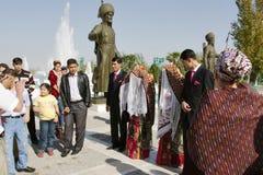 Ashgabad Turkmenistan, Luty, - 23, 2015: Państwa młodzi wewnątrz Obraz Royalty Free