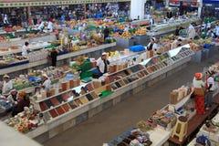 Ashgabad, Turkmenistan - October 10, 2014. Farmers Market. Gulistan in Ashgabad on OCTOBER 10, 2014. People at closed market in Ashgabad, Turkmenistan Royalty Free Stock Photo