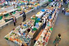 Ashgabad, Turkmenistan - October 10, 2014. Farmers Market. Gulistan in Ashgabad on October 10, 2014. People at closed market in Ashgabad, Turkmenistan Royalty Free Stock Photos