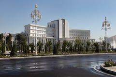 Ashgabad Turkmenistan - Oktober 15, 2014: Central fyrkant av askaen Arkivbild