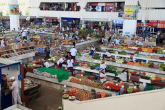 Ashgabad Turkmenistan, Październik, - 10, 2014 Rolnika rynek Zdjęcie Royalty Free