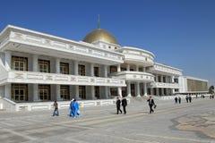 Ashgabad, Turquemenistão - outubro, 10 2014: Quadrado central da cinza Imagens de Stock