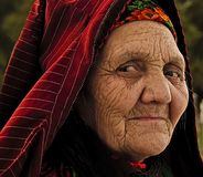 Ashgabat, Τουρκμενιστάν - 2 Απριλίου 2013 Το πορτρέτο παλαιού Στοκ Εικόνες