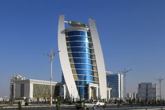 Ashgabat, Τουρκμενιστάν - 11 Οκτωβρίου 2014: Άποψη σχετικά με το νέο buil Στοκ φωτογραφία με δικαίωμα ελεύθερης χρήσης