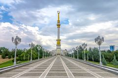 Ashgabat Independence Monument 05 royalty free stock photos